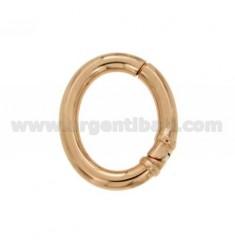 ABSCHLUSS SMARTER OVAL 30x25 MM MM 4 FASS IN Rose vergoldet AG TIT 925 ‰