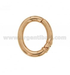 CLOSURE SMARTER OVAL 30x25 MM MM 4 BARREL IN ROSE GOLD PLATED AG TIT 925 ‰