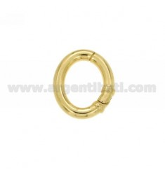 21X17 MM OVAL CLOSURE SMARTER IN REED AG 3.5 MM GOLD PLATED TIT 925 ‰