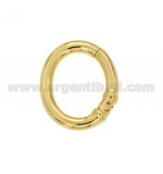 CLOSURE SMARTER OVAL 30x25 MM MM 4 BARREL IN GOLD PLATED AG TIT 925 ‰