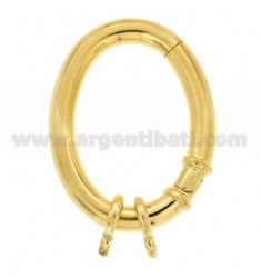 CLOSURE SMARTER OVAL 41X32 MM MM BARREL WITH 5 Ottini AG IN GOLD PLATED TIT 925