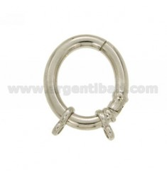 CLOSURE SMARTER OVAL 30x25 MM MM 4 BARREL WITH RHODIUM AG Ottini IN TIT 925 ‰