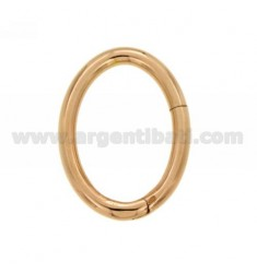CLOSURE SMARTER OVAL 35X25 MM 2.6 MM BARREL IN ROSE GOLD PLATED AG TIT 925