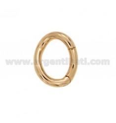 SUSTA INTELLIGENTE oval geformt FASS 24x19 MM 3,7 mm Rose vergoldet AG TIT 925 ‰