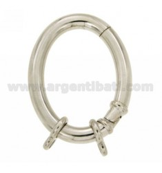 CLOSURE SMARTER OVAL 41X32 MM MM BARREL WITH 5 Ottini AG IN RHODIUM TIT 925