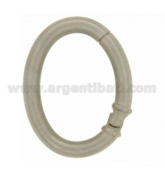 CLOSURE SMARTER 41X32 MM OVAL ROD 5 MM IN SATIN AND RHODIUM AG TIT 925