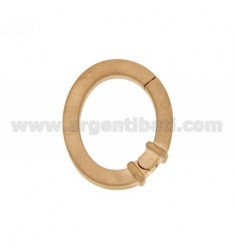CLOSURE SMARTER OVAL 28x24 MM 3.5 MM SQUARE BARREL IN AG AND SATIN ROSE GOLD PLATED TIT 925 ‰