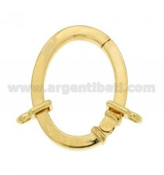 CLOSURE SMARTER 39X29 MM OVAL SQUARE BARREL WITH 4 MM Ottini AG IN GOLD PLATED TIT 925 ‰