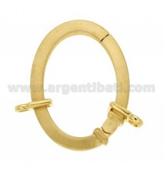 CLOSURE SMARTER 39X29 MM OVAL SQUARE BARREL WITH 4 MM Ottini AG IN SATIN GOLD PLATED TIT 925 ‰
