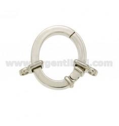 ABSCHLUSS SMARTER OVAL 28x24 MM 3,5 mm im Quadrat FASS AG mit Rhodium Ottini IN TIT 925 ‰
