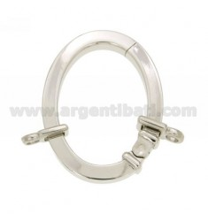CLOSURE SMARTER 39X29 MM OVAL SQUARE BARREL WITH 4 MM Ottini AG IN RHODIUM TIT 925 ‰