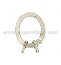 CLOSING INTELLIGENT OVAL 28x24 MM SQUARE ROD 3.5 MM WITH Ottini AG IN SATIN RODIATO TIT 925 ‰