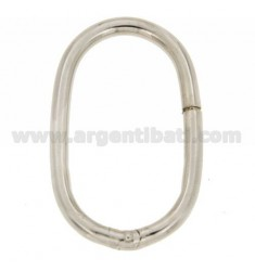 SMART CLOSURE EXTENDED OVAL 48X29 MM MM 4 BARREL IN RHODIUM AG TIT 925 ‰