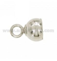 LUG ROUND mm 12 mm 7 mit Jersey geschlossen AG TIT RHODIUM 925