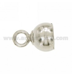 LUG ROUND MM 12 MM 7 with jersey CLOSED IN AG TIT RHODIUM 925