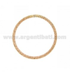 DISTANCE A CIRCLE FACETED MM 30 MM 2 BARREL IN AG TIT PLATED ROSE GOLD 925 ‰