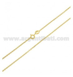 CABLE CHAIN MM 1,4 CM 40 IN GOLD PLATED AG TIT 925