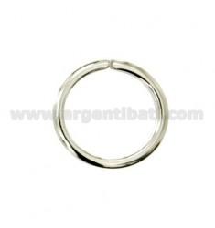 HOOK PORTACHIAVI BRISE &39ROHR ROUND 3x2,5 mm Durchmesser 24 mm Silber TIT 925