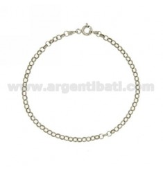 ROLO BRACELET 'MM 1X3,1 IN SILVER RHODIUM-PLATED TIT 925 ‰ CM 19
