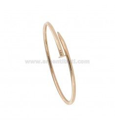 RIGID BRACELET IN NAIL 3 MM SILVER ROSE GOLD PLATED TIT 925 ‰