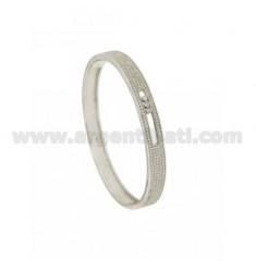 7 MM BANGLE WITH SWAROVSKI movable AND PAVE &39IN RHODIUM TIT AG 925
