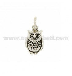 Pendant Owl 19x13 MM IN AG microcast BRUNITO TIT 925 ‰