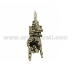 PENDANT HAND HORNS IN 28X10 MM AG microcast BRUNITO TIT 925 ‰