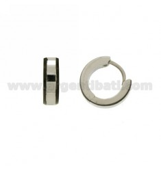 Ohrringe CERCHIETTO Snap 13 mm Durchmesser 4 Laufstahl MIT VORSTAND PLATED rutenio