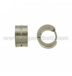 Earrings CERCHIETTO snap DIAMETER 14 MM 6 BARREL STEEL SATIN