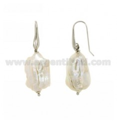 BAROQUE PEARLS EARRINGS RHODIUM NATURAL IN AG TIT 925 ‰