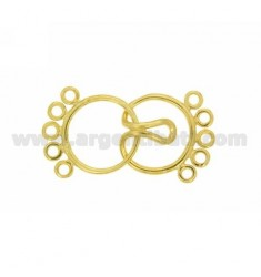 CLOSING WIRE ROUND 15 MM HOOK 5 WIRES IN AG TIT 925 GOLD PLATED