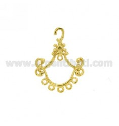 ELEMENT FOR EARRING PENDANT 22x17 MM GOLD PLATED IN AG TIT 925?