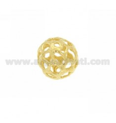 BALL SPACER TRAFORAT MM HOLE 18 MM 2 IN AG TIT 925 GOLD PLATED