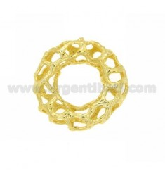 DONUT HOLE THROUGH DISTANCE 28x7 MM 13 MM IN INTERNAL AG GOLD PLATED TIT 925