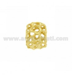 DISTANCE CYLINDER TRAFORATO MM MM 2.5 16x14 HOLE IN AG TIT 925 GOLD PLATED