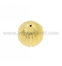 DISTANCE STRIPED BALL 20 MM IN AG TIT 925 GOLD PLATED