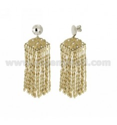 EARRINGS CHAINS AND CRYSTAL IN GOLD AND RHODIUM PLATED AG TITLE 925 ‰