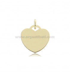 HEART PENDANT 22 MM THICKNESS 0.8 MM GOLD PLATED IN AG TIT 925 ‰