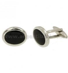 GEMINI Stahl Oval 19x15 mm mit ONYX