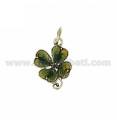 CLOVER CHARM IN 30X22 MM AG microcast BRUNITO TIT 925 ‰ AND POLISH