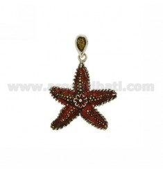 STARFISH PENDANT 46X40 MM IN AG microcast BRUNITO TIT 800 ‰ AND POLISH