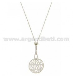 NECKLACE LOVE CABLE 45 MM 19 CM IN SILVER RHODIUM TIT 925 ‰