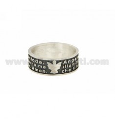 RING ANGEL OF GOD 8 MM SILVER BRUNITO TIT 925 ‰ MEASURE 12