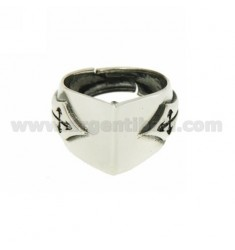 RING IN PUNTA SILVER BRUNITO TIT 925 ‰ ADJUSTABLE SIZE