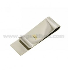 MONEY CLIPS STEEL AND DOLPHIN IN Bilamina GOLD AND BRASS