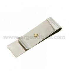 GELD CLIPS UND STAHL WIND ROSE IN Bilamina Gold und Messing