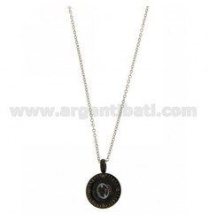 COMPASS IN STEEL PENDANT WITH CHAIN CABLE 50 CM WITH ELEMENTS CLAD RUTENIO