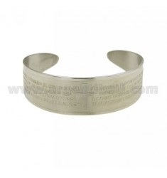 SLAVE BRACELET 20 MM STEEL WITH OUR FATHER