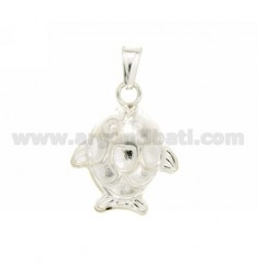 CHARM COUPLED FISH 25x20 MM SILVER TIT 925 ‰