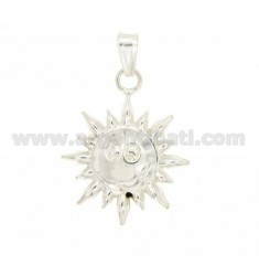 CHARM COUPLED SUN 29x24 MM SILVER TIT 925 ‰